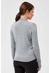 Sweter MOODO z długim rękawem, z kopertowym dekoltem