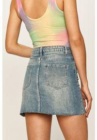 Haily's - Spódnica jeansowa. Okazja: na co dzień. Stan: podwyższony. Kolor: niebieski. Materiał: jeans. Styl: casual