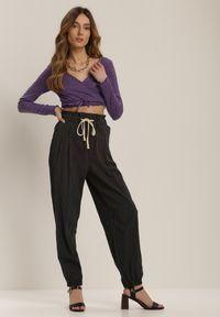 Czarne spodnie z wysokim stanem Renee