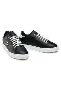 Baldinini - Sneakersy BALDININI - 196322XVIVI0090XXKBX Nero/Bi. Okazja: na co dzień. Kolor: czarny. Materiał: skóra. Szerokość cholewki: normalna. Wzór: aplikacja. Styl: casual, elegancki