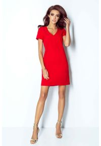 Czerwona sukienka IVON mini, trapezowa