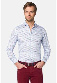 Lancerto - Koszula z Nadrukiem Elena. Materiał: bawełna, tkanina, jeans. Wzór: nadruk