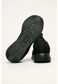 Czarne buty sportowe vagabond z cholewką, na obcasie
