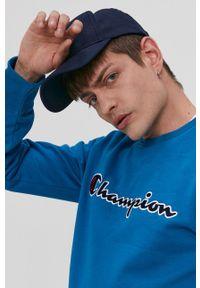 Champion - Bluza. Okazja: na co dzień. Kolor: niebieski. Wzór: aplikacja. Styl: casual