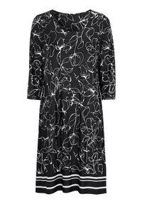 Cellbes Sukienka dżersejowa z rękawem 3/4 Czarny we wzory female czarny/ze wzorem 38/40. Okazja: na co dzień. Kolor: czarny. Materiał: jersey. Typ sukienki: proste. Styl: elegancki, casual