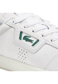 Lacoste - Sneakersy LACOSTE - Masters Classic 07211 Sma 7-41SMA00141R5 Wht/Dk Grn. Kolor: biały. Materiał: skóra. Szerokość cholewki: normalna. Styl: klasyczny