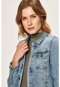 only - Only - Kurtka jeansowa. Okazja: na co dzień. Kolor: niebieski. Materiał: jeans. Styl: casual