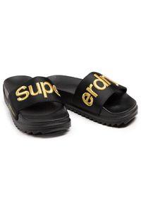 Superdry Klapki Satin Flatform Slide WF310126A Czarny. Kolor: czarny #6