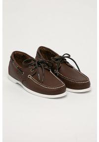 Timberland - Mokasyny skórzane Cedar Bay. Nosek buta: okrągły. Kolor: brązowy. Materiał: skóra #4