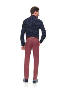 TOP SECRET - Koszula taliowana z nadrukiem. Typ kołnierza: kołnierzyk klasyczny. Kolor: niebieski. Materiał: bawełna. Wzór: nadruk. Sezon: zima. Styl: klasyczny, elegancki