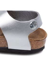 Srebrne sandały Birkenstock