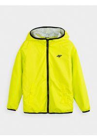 Żółta kurtka 4f raglanowy rękaw, z kapturem