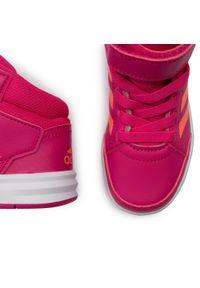 Różowe kozaki Adidas z cholewką