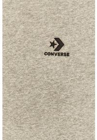 Converse - Bluza. Okazja: na co dzień. Typ kołnierza: kaptur. Kolor: szary. Materiał: dzianina. Wzór: gładki. Styl: casual