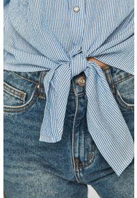 Niebieska koszula only długa, na co dzień, z klasycznym kołnierzykiem, klasyczna