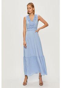 Liu Jo - Sukienka. Kolor: niebieski. Typ sukienki: rozkloszowane