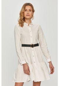 Biała sukienka Silvian Heach mini, na co dzień, klasyczna