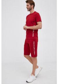 Polo Ralph Lauren - T-shirt. Okazja: na co dzień. Typ kołnierza: polo. Kolor: czerwony. Materiał: dzianina. Wzór: nadruk. Styl: casual
