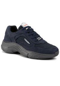 Niebieskie sneakersy Togoshi na co dzień, z cholewką