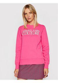 Versace Jeans Couture Bluza R Logo Embro 71HAIT01 Różowy Regular Fit. Typ kołnierza: kołnierzyk włoski. Kolor: różowy