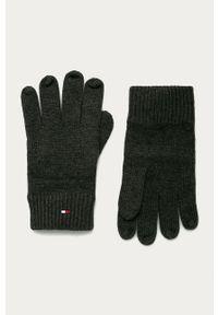 Szare rękawiczki TOMMY HILFIGER