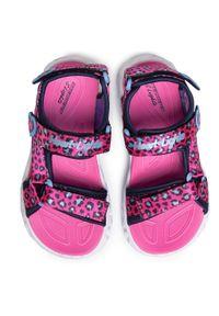 Różowe sandały skechers na lato