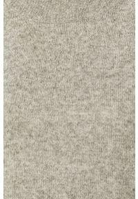 Szary sweter Jacqueline de Yong casualowy, na co dzień, długi, z długim rękawem