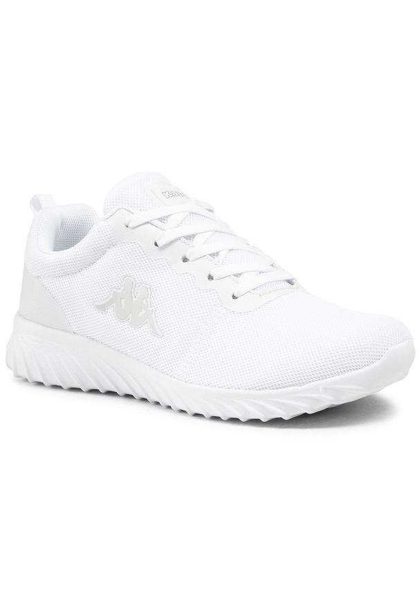 Kappa - Sneakersy KAPPA - Ces 242685 White 1010. Okazja: na co dzień. Kolor: biały. Materiał: materiał. Szerokość cholewki: normalna. Sezon: lato. Styl: casual