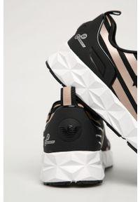 Białe sneakersy EA7 Emporio Armani z cholewką, z okrągłym noskiem, na sznurówki