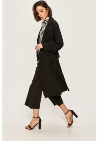 Czarny płaszcz ANSWEAR casualowy, na co dzień, bez kaptura