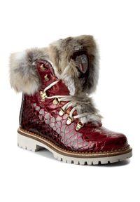 Czerwone buty trekkingowe New Italia Shoes