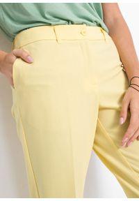 Żółte spodnie bonprix biznesowe, na spotkanie biznesowe, melanż