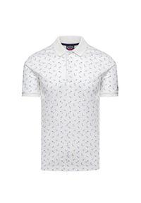 Biała koszulka polo Paul and Shark z nadrukiem, polo