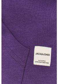 Jack & Jones - Bluza. Typ kołnierza: kaptur. Kolor: fioletowy. Materiał: dzianina, bawełna, poliester. Wzór: gładki #2