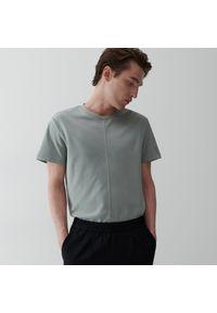 Reserved - T-shirt z bawełną - Jasny szary. Kolor: szary. Materiał: bawełna