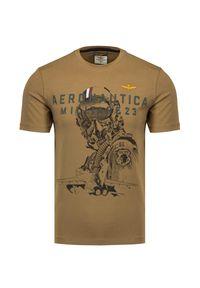 Aeronautica Militare - T-shirt AERONAUTICA MILITARE. Materiał: bawełna. Wzór: aplikacja, nadruk