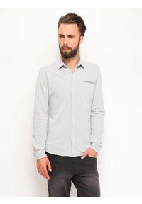 Szara koszula TOP SECRET w kolorowe wzory, długa, casualowa