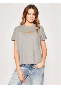 Napapijri T-Shirt Sione NP0A4E3S Szary Regular Fit. Kolor: szary