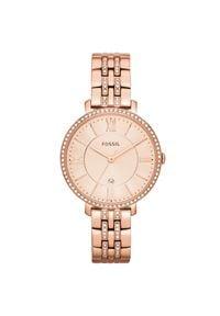 Fossil - Zegarek FOSSIL - Jacqueline ES3546 Rose Gold/Rose. Kolor: różowy. Materiał: materiał. Styl: biznesowy, vintage