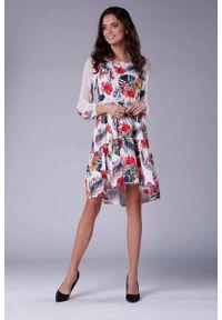 Sukienka rozkloszowana Nommo z falbankami