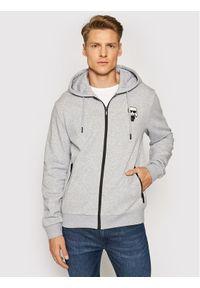 Karl Lagerfeld - KARL LAGERFELD Bluza Sweat 705024 511900 Szary Regular Fit. Typ kołnierza: dekolt w karo. Kolor: szary
