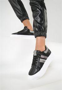Renee - Czarne Sneakersy Elashor. Kolor: czarny