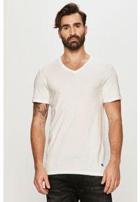 Biały t-shirt Champion casualowy, na co dzień