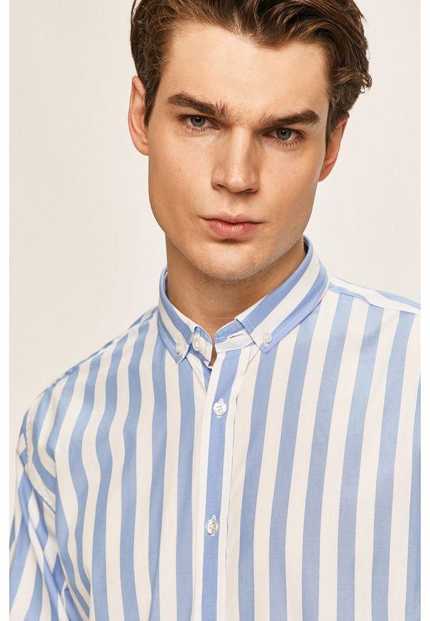 Niebieska koszula Clean Cut Copenhagen na co dzień, button down, casualowa, długa