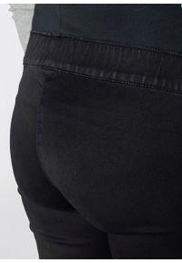 Legginsy ciążowe dla ciężarnych bonprix czarny denim. Kolekcja: moda ciążowa. Kolor: czarny
