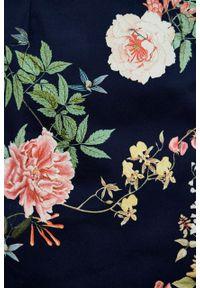 Marie Zélie - Sukienka Milena Silvestria granatowa. Kolor: niebieski. Materiał: bawełna, wiskoza, materiał, elastan, syntetyk, włókno, acetat, poliester. Typ sukienki: proste