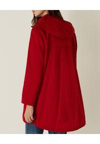 Marella - MARELLA - Czerwona parka z kapturem Ronco. Typ kołnierza: kaptur. Kolor: czerwony. Materiał: materiał, jeans