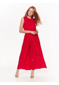 Czerwona sukienka TOP SECRET na imprezę, elegancka