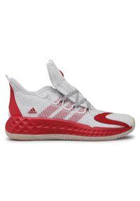 Białe półbuty Adidas z cholewką, sportowe