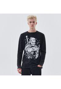 Cropp - Koszulka longsleeve The Witcher - Czarny. Kolor: czarny. Długość rękawa: długi rękaw